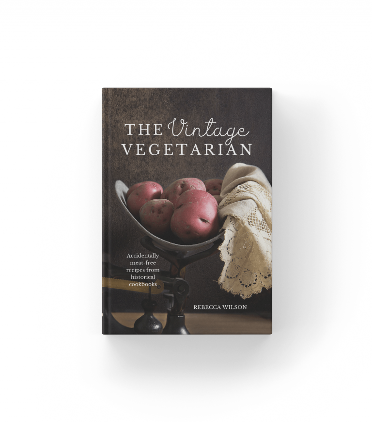 Vintage vegetarian mockup