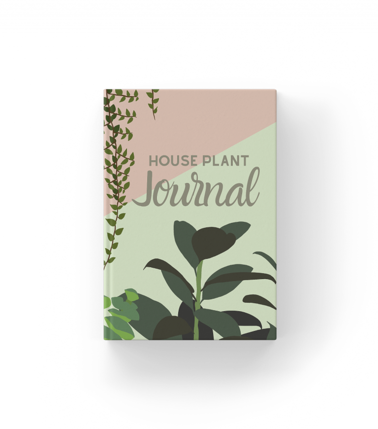 house plant journal mockup