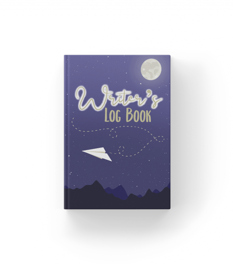 writers log book mockup